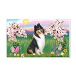 Blossoms / Collie (tri) 22x14 Wall Peel