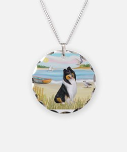 Rowboat / Collie (tri) Necklace