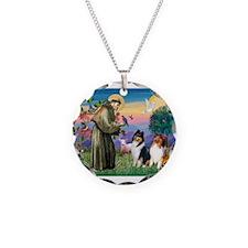 St Francis / Collie Pair Necklace