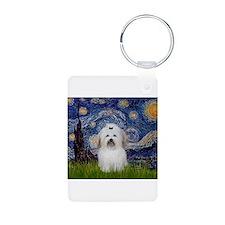 Starry Night Coton Aluminum Photo Keychain