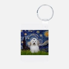 Starry Night Coton Aluminum Photo Keychain