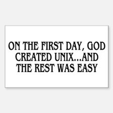 God created UNIX Decal