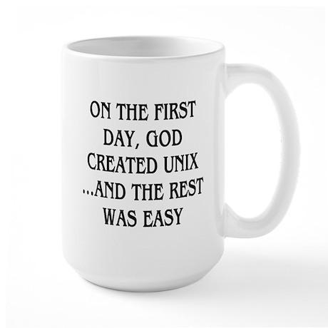 God created UNIX Large Mug