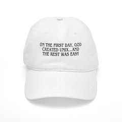 God created UNIX Baseball Cap