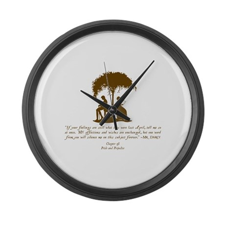 Jane Austen Gift Large Wall Clock
