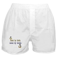 Geek by birth... Boxer Shorts