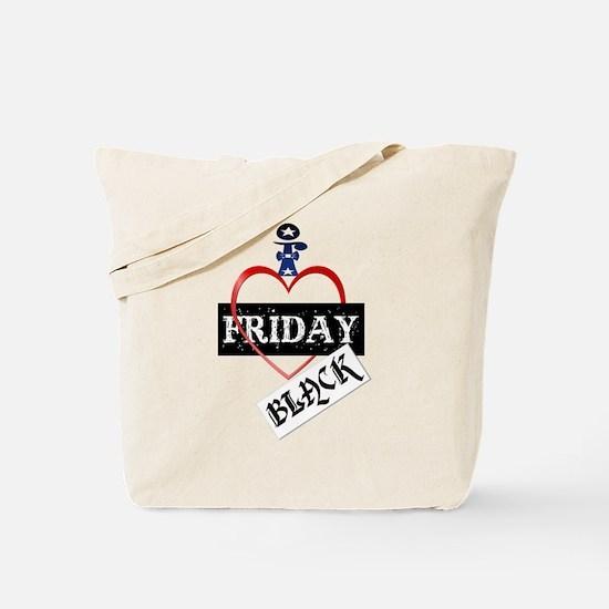 I Love Black Friday Tote Bag