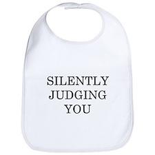 Silently Judging You Bib