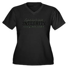 Unique True Women's Plus Size V-Neck Dark T-Shirt