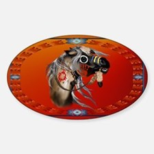 War Horse Sticker (Oval)