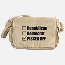 Republican Democrat or PISSED OFF Messenger Bag