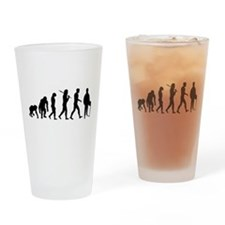 Accountant Evolution Drinking Glass