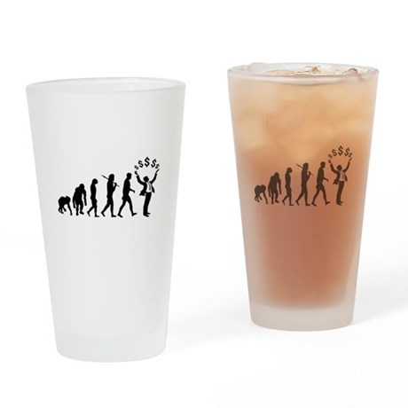 Finance Investing Banking Drinking Glass