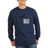 Bird nerd Long Sleeve T-shirts (Dark)