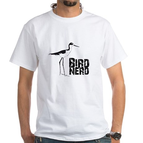 Bird Nerd (Stilt) White T-Shirt