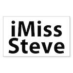 iMiss Steve Sticker (Rectangle)