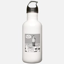 Ghost Comedian (no text) Water Bottle