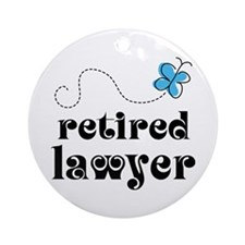 Retired Lawyer Gift Ornament (Round)