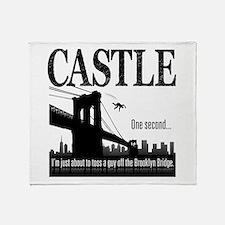 Castle Bridge Toss Throw Blanket