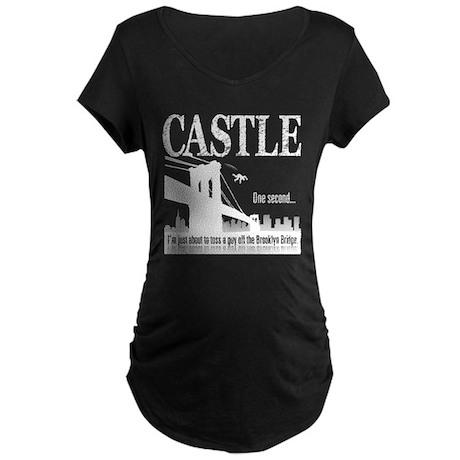 Castle Bridge Toss Maternity Dark T-Shirt
