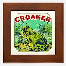 Croaker Frog Cigar Label Framed Tile