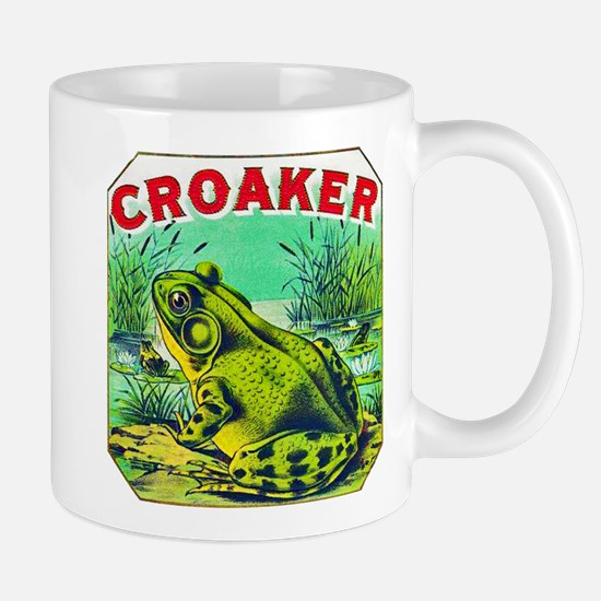 Croaker Frog Cigar Label Mug