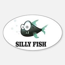 silly fish with bug eyes Decal
