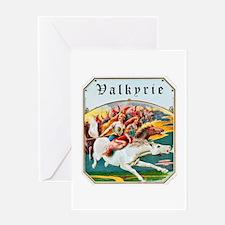 Valkyrie Cigar Label Greeting Card