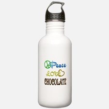 Chocolate Peace Love Water Bottle