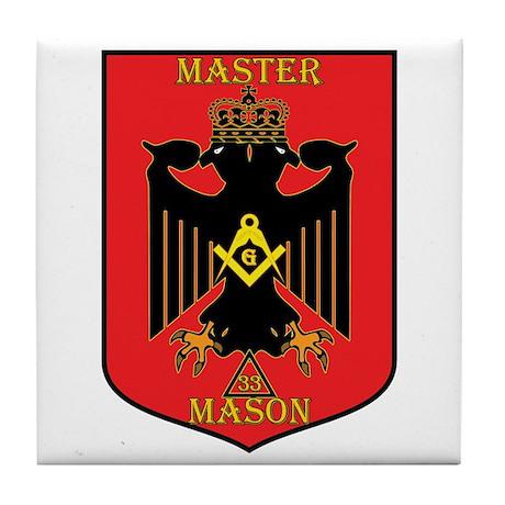Masonic 33rd Degree Tile Coaster