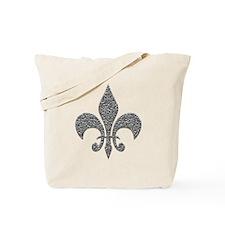 Hammered Silver NOLA Fleur Tote Bag