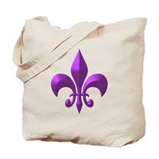 NOLA Purple Metallic Fleur Tote Bag