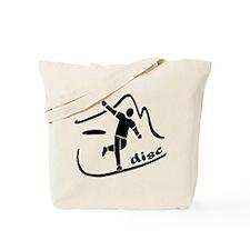 Disc Launch Black Tote Bag