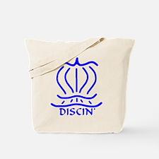 Asiatic Discin' Design blue Tote Bag