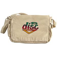 Disc Golf Text Shape1 Messenger Bag