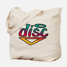 Disc Golf Text Shape1 Tote Bag