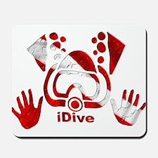 iDive Dive Flag Original Mousepad