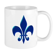 NOLA Blue Metallic Fleur Mug
