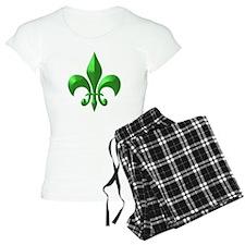 NOLA Green Metallic Fleur Pajamas