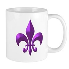 NOLA Purple Metallic Fleur Mug