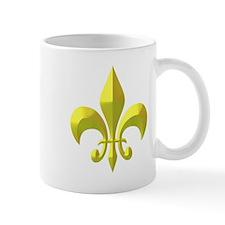 NOLA Gold Metallic Fleur Mug