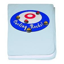 Curling Rocks! baby blanket