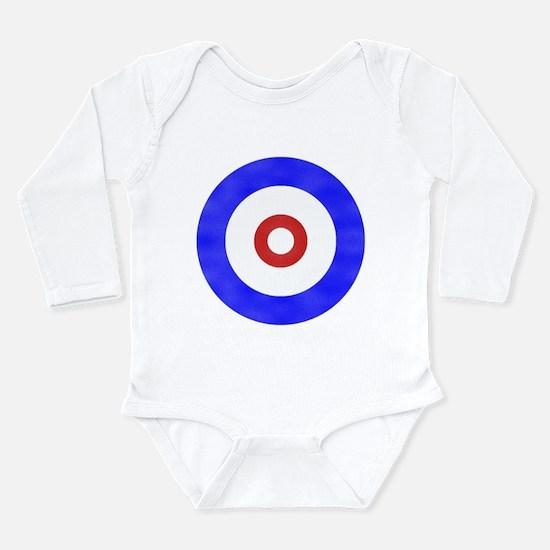 Curling Circle Ice Long Sleeve Infant Bodysuit
