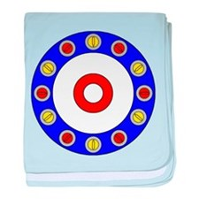 Curling Circle with Rocks baby blanket