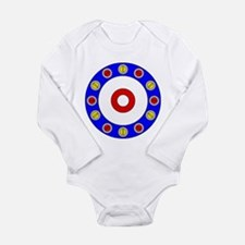 Curling Circle with Rocks Long Sleeve Infant Bodys