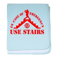 In Case of Emergency Use Stai baby blanket
