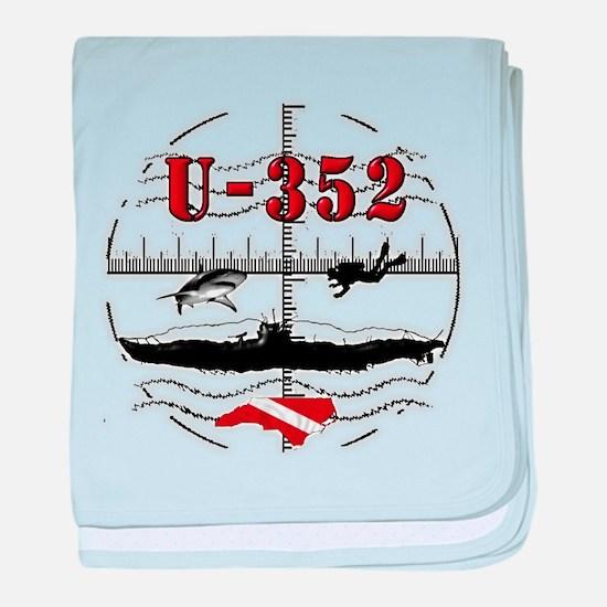 U-352 Dive baby blanket