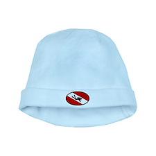 Diver Down Flag Diver baby hat