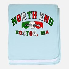 Boston North End baby blanket