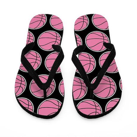 Basketball Girls Pink Flip Flops